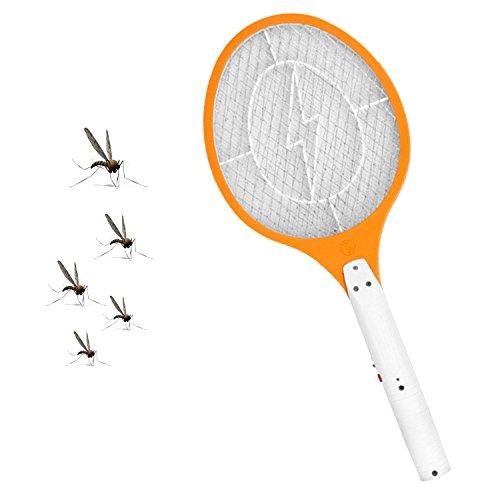 Gosear Recargable Exterminador eléctrico de Insectos Raqueta, Raqueta Mosquitos Moscas Bug Zapper,...