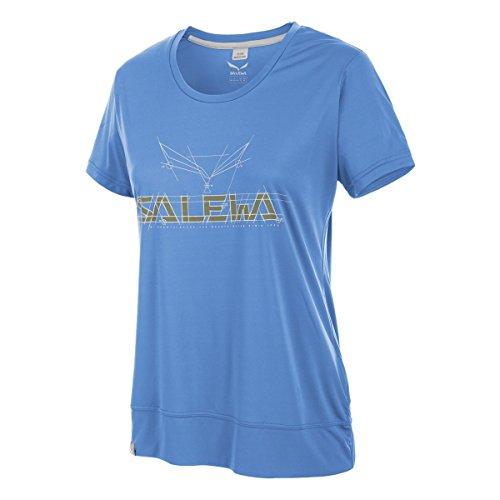 Salewa Puez Mountain Dry W S/S Tee - T-Shirt à Manches Courtes pour Femme, Couleur Bleu, Taille 42/36