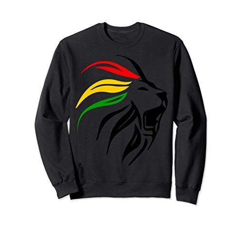 Rasta Reggae Lion Art per Rastafari Lover Sudadera