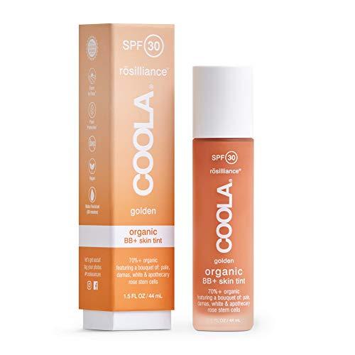 Coola, Organic Rosilliance BB+ Cream Tinted Moisturizer Sunscreen Skin Care Broad Spectrum SPF 30 Reef Safe, Golden, 1.5 Fl Oz