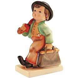 ISDD Cuckoo Clocks Hummel figurine merry wanderer, original MI Hummel Collection, gift-boxed
