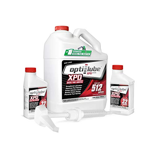 Opti-Lube XPD Formula All Seasons Diesel Fuel Additive: 1 Gallon with Accessories (1 hand pump & 2 empty 8oz bottle) Treats up to 512 Gallons