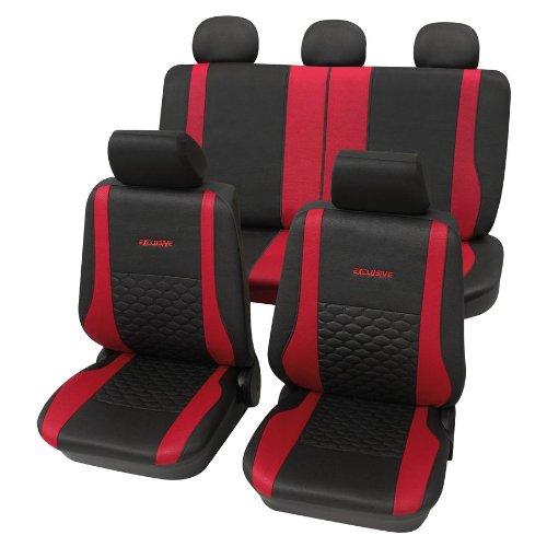 Eco Class Exclusive rot 17tlg. Lederlook Sitzbezug Schonbezüge Schonbezug Autoschonbezug