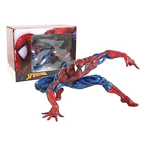 LIANGLMY Figuritas Decorativas 30cm Spiderman Spiderman Mapa de Vinilo Suave Suave Modelo Coleccionable (Color : Box)