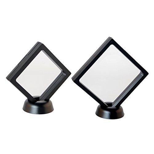 Homyl 2 pçs 3D Levitate Transparente Joias Expositor Caixa Suporte Caixa Show Case 70 mm/90 mm