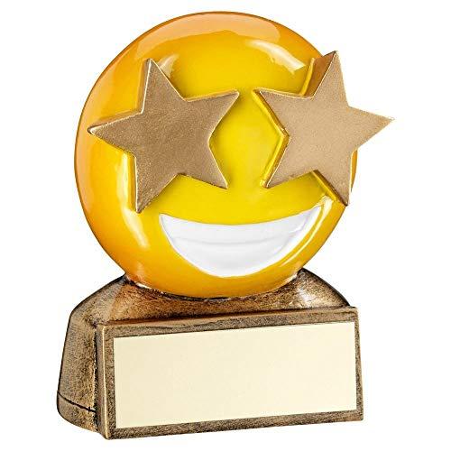 Lapal Dimension BRZ/Amarillo Star Eyes Emoji Figura Trofeo – 2.75 Pulgadas