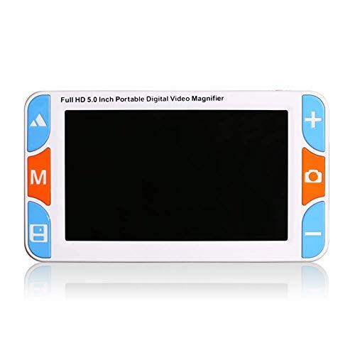 WMAID Lupa de Ayuda Digital de 5 Pulgadas Soporte de Ayuda electrónica de Lectura móvil Salida AV HDMI a TV con Zoom 3X-48X Modos múltiples de Color, congelación para Baja visión