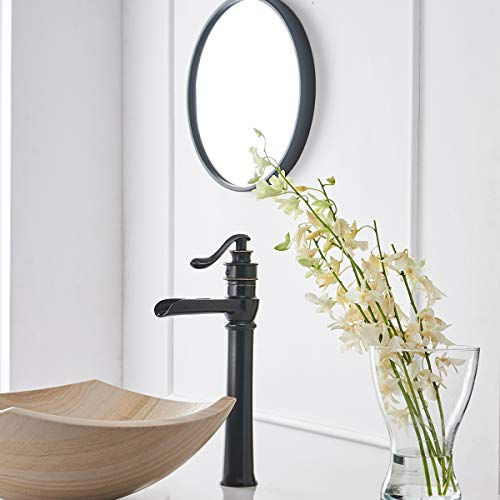 Greenspring Bathroom Vessel Sink Faucet Oil Rubbed Bronze Waterfall Single Handle One Hole Lavatory Commercial Tall Body Deck Mount