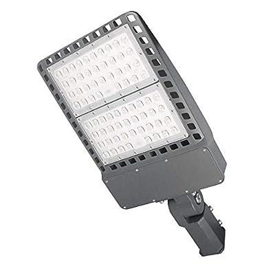 Tenaxi Parking Lot Lighting 200W, 26000Lm 5000K AC100-277V Outdoor Shoebox Pole Light, Waterproof IP65 UL/DLC Certified Street Light (700W HID/HPS Replacement)