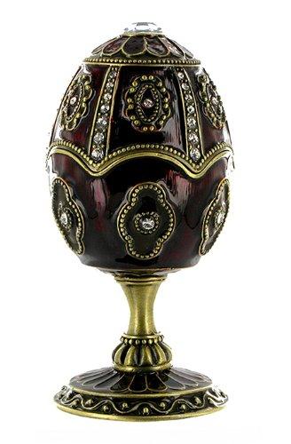 Huevo musical de estilo Fabergé de esmalte, estrás y doraduras con mecanismo musical de caja de música - El lago de los cisnes (Piotr Ilich Chaikovski)