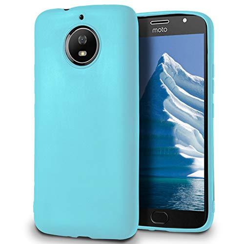 MYCASE Passend für Motorola Moto G5s Plus Hülle in Türkis Silikon Schutzhülle