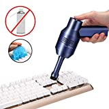 MECO Keyboard Cleaner with Cleaning Gel, Rechargeable Mini Vacuum Cordless Vacuum Desk Vacuum Cleaner, Best Cleaner for Cleaning Dust,Hairs,Crumbs,Scraps for Laptop,Piano,Computer,Car