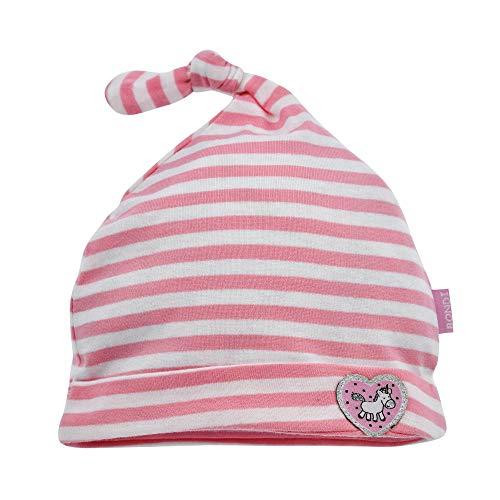 BONDI Mütze geringelt ´Unicorn´, stripe rose/white 41 Hallo Baby Girl Artikel-Nr.93518
