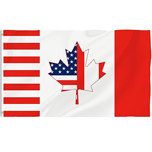 us canada flag - 3