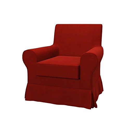 Soferia Bezug fur IKEA EKTORP JENNYLUND Sessel, Stoff Elegance Dark Orange