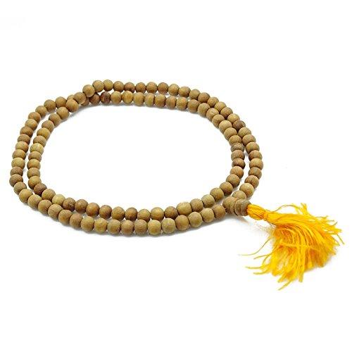 Traditionelles Sandelholz Japa Mala Braunes Rosenbeet-Gebet-Korn-Meditation