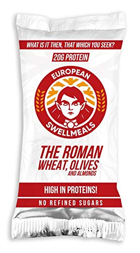 THE ROMAN - WHEAT, OLIVES ALMONDS - 16 BARS - 20G PROTEIN