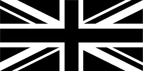 Cooldearydm Union Jack Vlag zelfklevende (zwart en wit) Sticker voor scherpstellen, Volkswagen Polo, Peugeot 206, Cruze