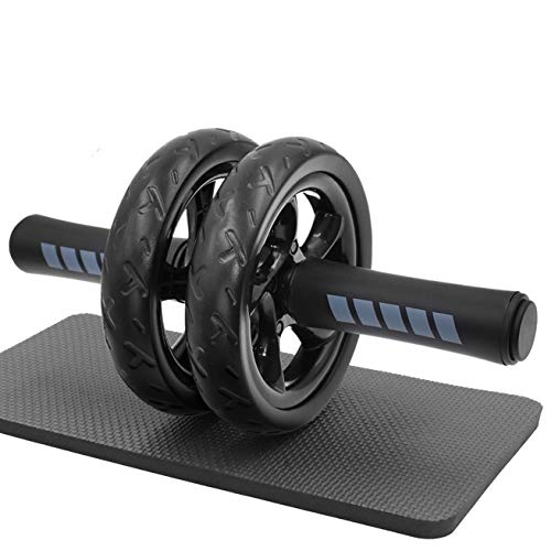 FEELCAT 腹筋ローラー 超静音 アブローラー スリムトレーナー アブホイール 上半身筋トレ 膝保護マット付き 耐荷重200kg (A-腹筋ローラー単体)