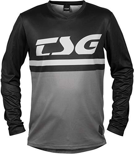 TSG Plain LS Maillot de cyclisme à manches longues Noir/gris 2020 M noir/gris