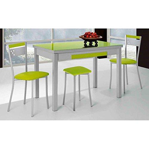 Amuebla 775. Mesa DE Cocina Extensible DE 120 X 80 CM.: Amazon.es ...