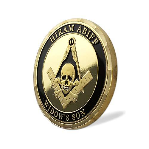 Masonic Coin Grand Master Hiram Abiff Widow's Son Freemason Blue Lodge Gift