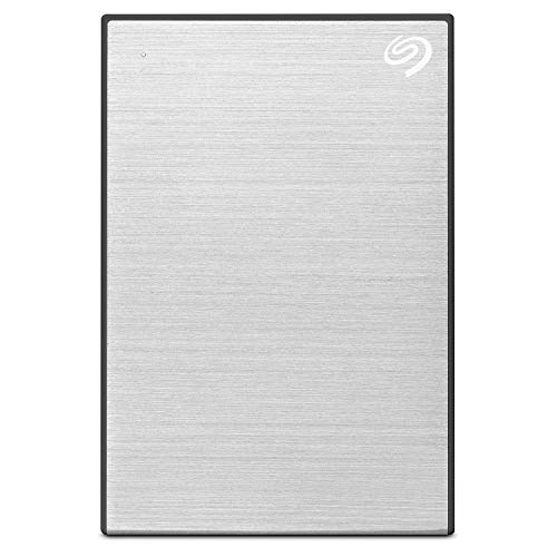 Seagate Backup Plus Slim 1 TB External Hard Drive Portable HDD – Silver USB 3.0 for PC Laptop and Mac, 1 Year Mylio Create, 2 Months Adobe CC Photography (STHN1000401)