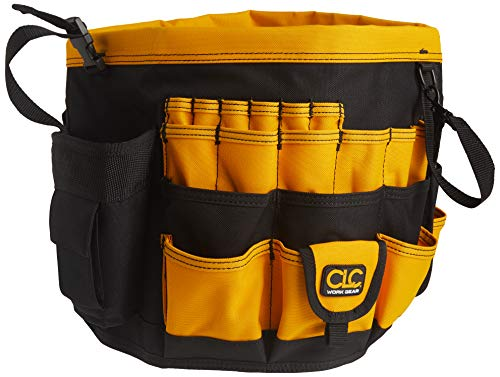 CLC Custom Leathercraft 4122 In & Out Bucket, 61 Pocket, Black/Yellow