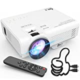 Mini Projector, DR. J Professional 6500Lumens Full HD 1080P Supported Video Projector For Outdoor Movies, Compatible With TV Stick, HDMI, VGA, USB, TF, AV, Sound Bar, Video Games [2021 Latest Upgrade]