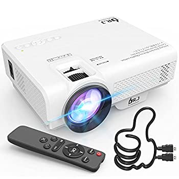 Mini Projector DR J Professional 6500Lumens Full HD 1080P Supported Video Projector For Outdoor Movies Compatible With TV Stick HDMI VGA USB TF AV Sound Bar Video Games [2021 Latest Upgrade]
