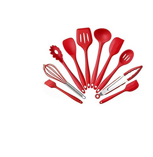 ZXDFG Kitchen Tools Silicone Kitchenware Non-Stick Cookware Cooking Tool Spatula Egg Beaters Shovel Soup Kitchen Utensils Set Gadgets