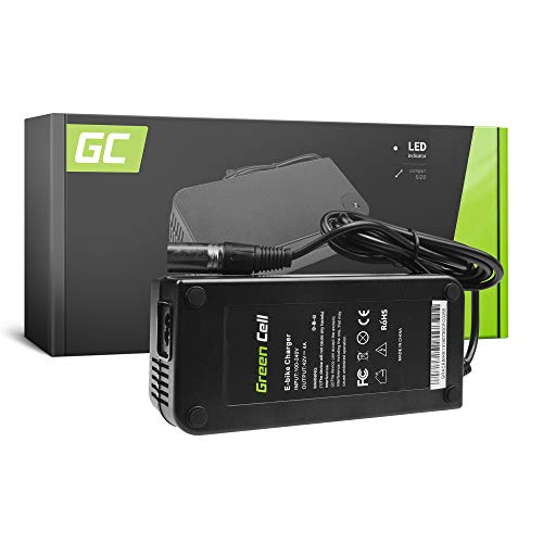 Green Cell® Cargador (42V 4A 168W) para Whistler Xplorer Yamaha Zündapp E-Bike Bicicleta Eléctrica Li-Ion Batería (Conector XLR 3 Pin)