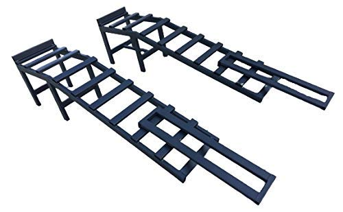 Coppia di rampe e prolunghe per auto 3,5 tonnellate | Extra pesante | 340 mm di altezza, 290 mm di larghezza | Manutenzione per auto, 4x4, furgoni