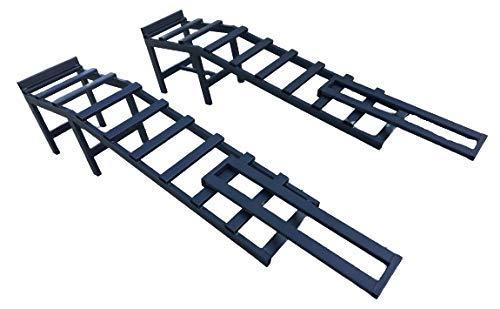 Paar Auffahrrampen mit Verlängerungen 3,5 Tonnen | Extra Heavy Duty | 340 mm hoch, 290 mm breit | Wartung für Pkw, 4x4, Lieferwagen, Lkw