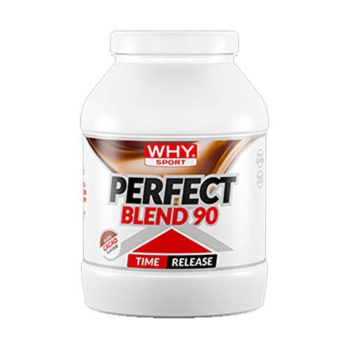 WHY SPORT Perfect Blend 90: Caseine, isolate, idrolizzate e albume. Gusto Cacao. Formato da 750g.