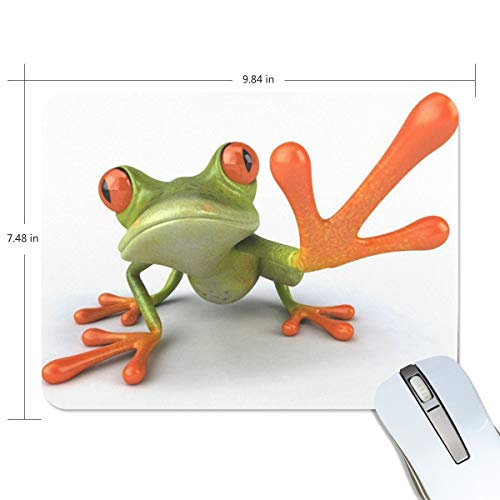 Basics Gaming Mauspad Cute Frog with Big Foot Mauspad Gaming Mauspad Computer Tastatur Mauspad 23,84 x 7,84 x 0,2 in