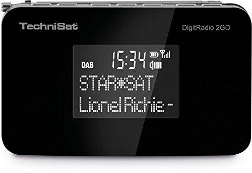 TechniSat Digitradio 2GO DAB Radio (mit Lautsprecher, klein, tragbar, für Outdoor geeignet, DAB+, UKW, Favoritenspeicher, Akku) schwarz
