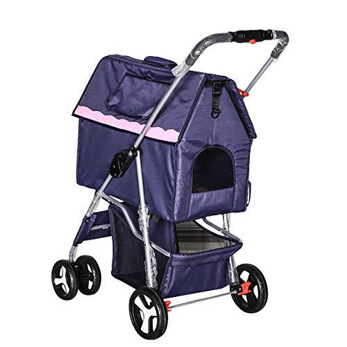 HAO SHOP kinderwagen opvouwbare tas wasbaar Split huisdier kennel voertuig huis huisdieren (hoog 102X 62X breedte lengte 47)