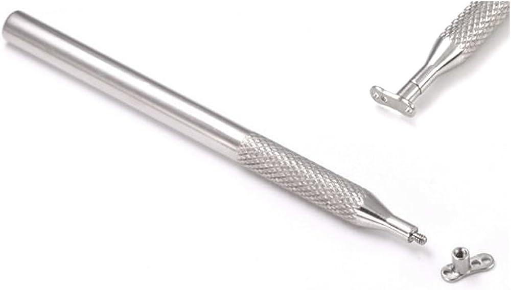 Threaded Tool for 14g - 12g Internally Threaded Dermal Anchors