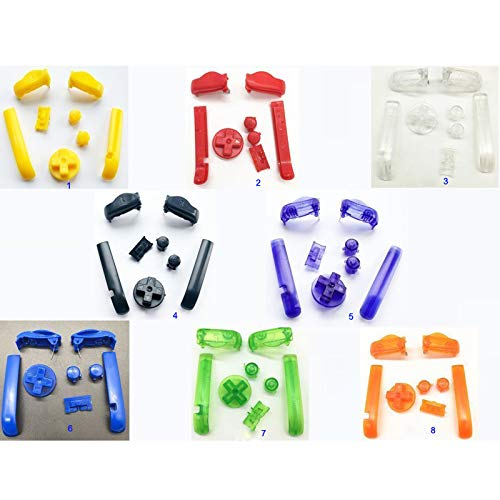 A B L R Buttons Keypads D Pads Power ON Off Buttons for Gameboy Advance for GBA Buttons (Color 1)