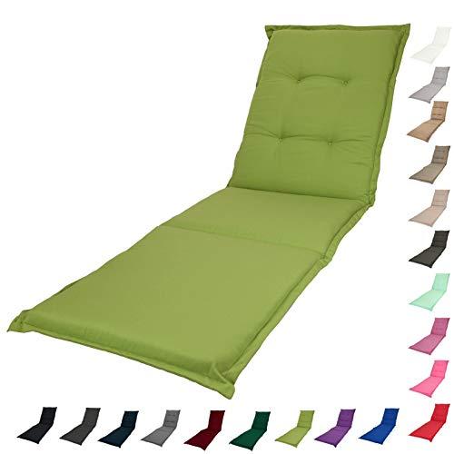 KOPU® Auflage Gartenliege Prisma Office Green | Liegenauflagen für Gartenmöbel | Apfelgrün Liegen Kissen 195 x 60 cm | 19 einfache Farben | Robuster Schaumstoff für zusätzlichen Komfort