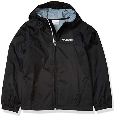 Columbia Boys Glennaker Rain Jacket, Waterproof & Breathable, Black, Large