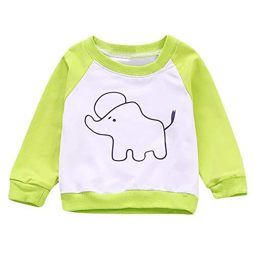 Binggong Sweat-Shirt T-Shirt Haut Pull-Over Bébé Fille Top Spot Sweatshirt Pulls Rayure Casual Mignon Cartoon Imprimée Motif Longues Manches Sweatshirt 6-24Mois