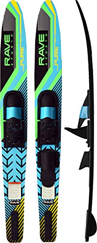 RAVE Sports Pure Combo Water Skis - Adult Black/Blue