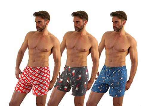 Sesto Senso® boxershorts voor heren, American geweven boxershort, geruit, 100% katoen, multipak, 2-delige tot 5-delige klassieke losse onderbroeken