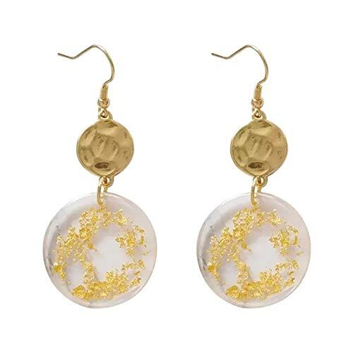 Pendientes de aro de oro vintage perforados, pendientes, joyería (color metal: 2)