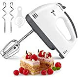 Hand Mixer Electric, 7-Speeds Lightweight Powerful Hand-Held Electric Mixer, Portable Kitchen Mixer Stainless Steel Egg Whisk with Egg White Separator, Egg Sticks and Dough Sticks for Baking, Cakes