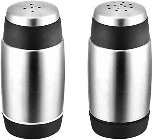 2 stuks roestvrij staal peper shaker zout shaker duurzaam kruid shaker voor barbecue home restaurant keuken Kruiden…