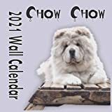 Chow Chow 2021 Wall Calendar: Chow Chow 8.5 x 8.5 Inch Monthly Square Wall Calendar, Animals Dog Breeds