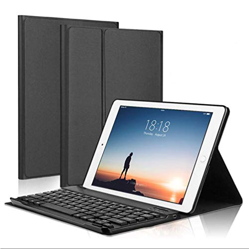 KINOEE Keyboard Case for iPad Pro 10.5',Compatible with New iPad Air 3 2019/ iPad Pro 10.5 - Detachable Keyboard with Pencil Holder Folio Cover for New iPad Air 10.5' Inch,Black (BLACK)